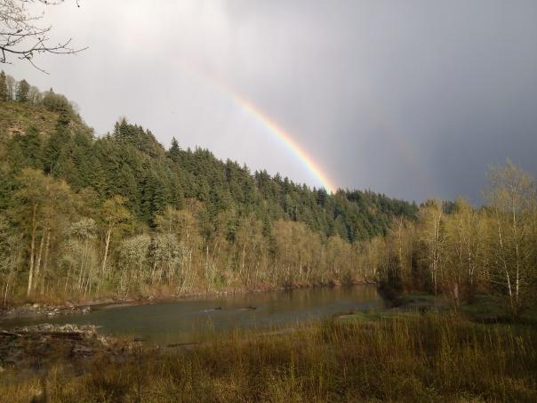 Rainbow Over the Sandy
